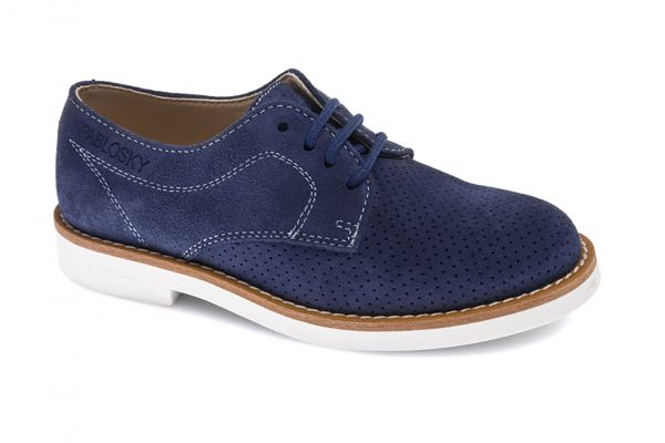 470325fe4bc Zapatos casual de niño azul Pablosky de piel 712747