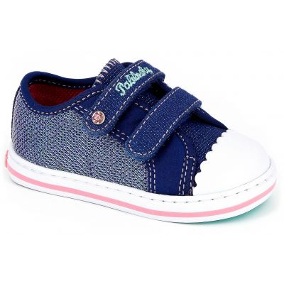 Canvas Navy Glitter