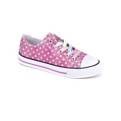 Denim Pink Stars